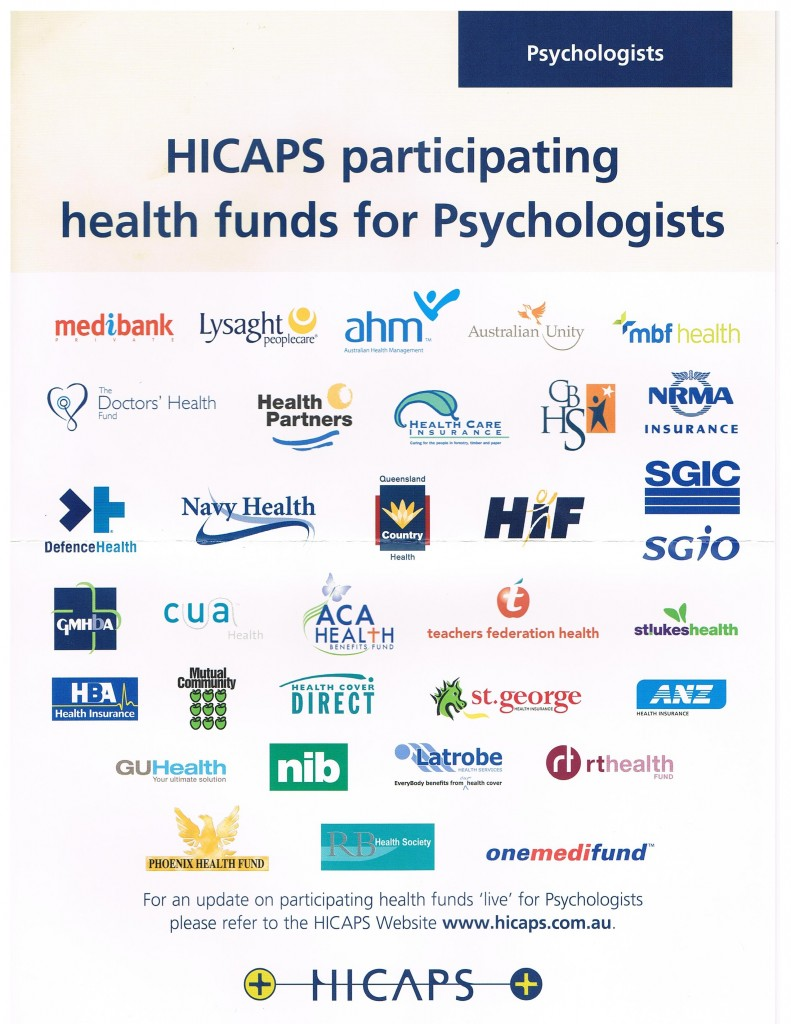 HICAPS participating health funds for psychologists